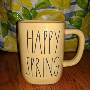 Rae Dunn Happy Spring Yellow Mug